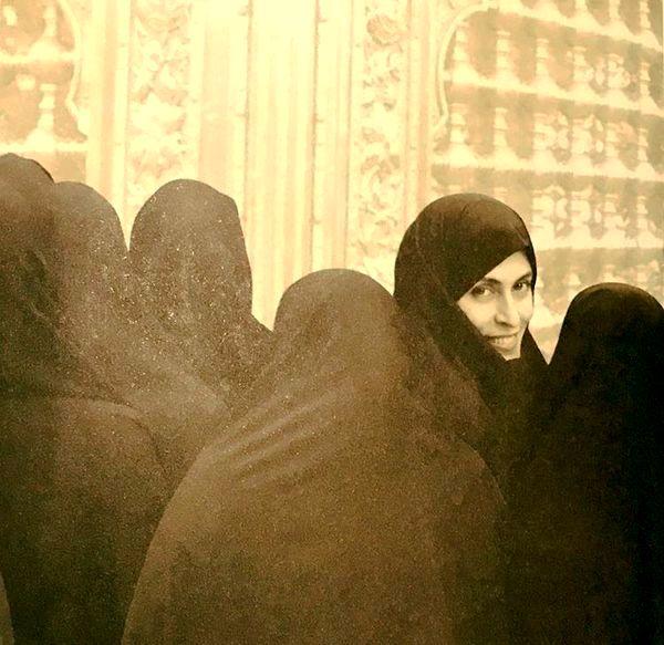بهناز جعفری در زیارت + عکس