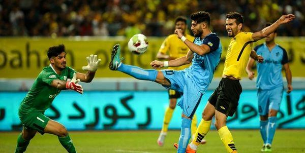 تساوی استقلال خوزستان و سپاهان در پایان نیمه اول با گل جنجالی
