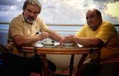 نادر سلیمانی در کنار مرد نقره ای + عکس