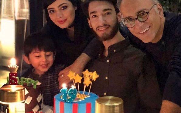 عکس حمیدرضا آذرنگ با خانواده