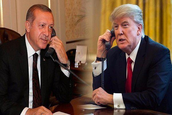 اردوغان و ترامپ رایزنی کردند