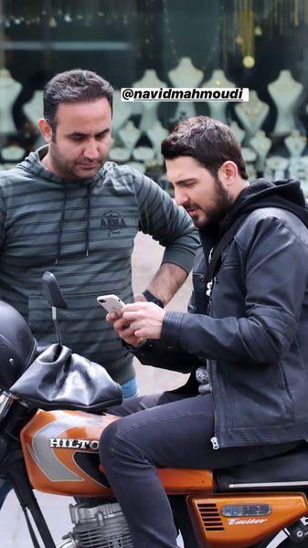 موتور سواری بازیگر ملکه گدایان + عکس