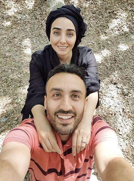 زوج عاشق سینمای ایران در گردش + عمس