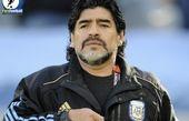 مارادونا تماشاگر ویژه دیدار قهرمانان!/ کاریکاتور