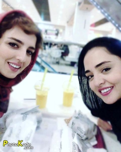 نرگس محمدی و خواهرش در فود کورت+عکس