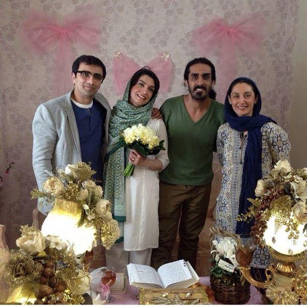 حضور هدیه تهرانی در مراسم عقد دو بازیگر مشهور + عکس