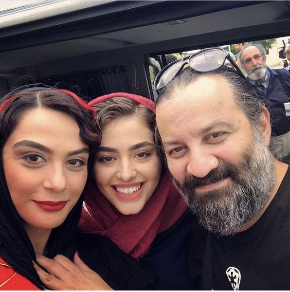 مهراب قاسمخانی در بین خانم های بازیگر + عکس