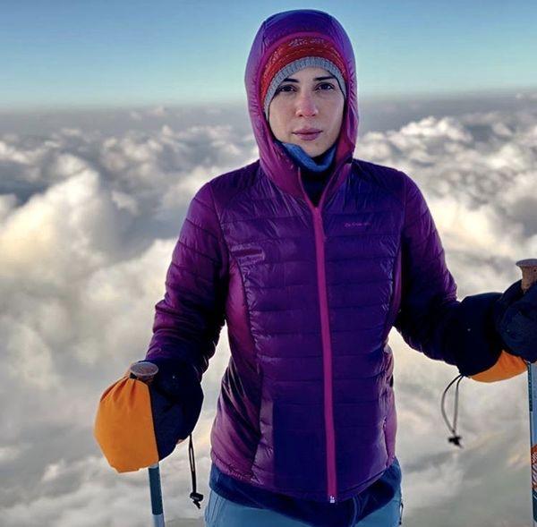 کوهنوردی حرفه ای سارا بهرامی + عکس