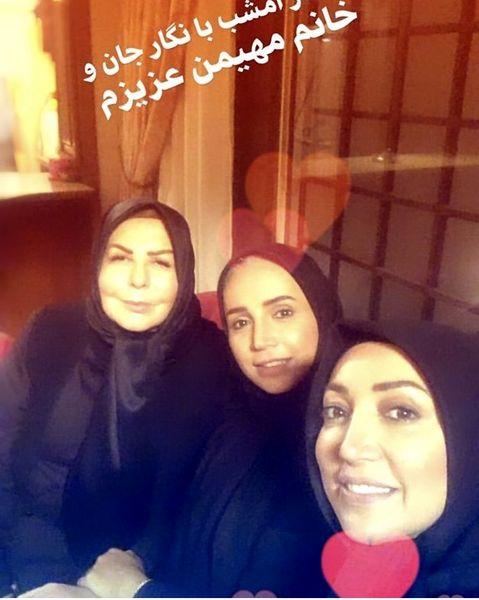 سلفی شبنم قلی خانی با دو بازیگر مشهور + عکس