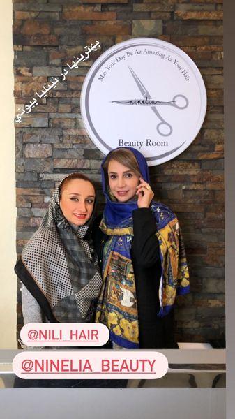 شبنم قلی خانی در سالن زیبایی دوستش + عکس