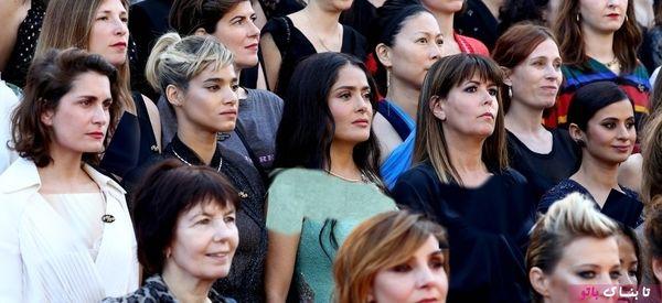 اعتراض زنان روی فرش قرمز جشنواره کن
