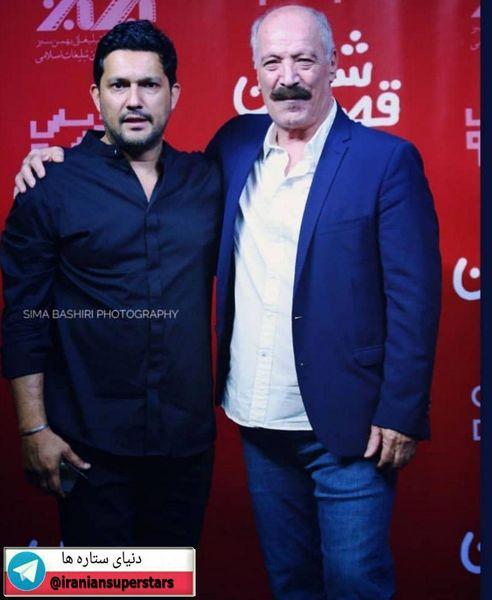 حامد بهداد در کنار بازیگر پیشکسوت+عکس