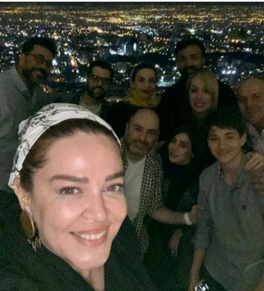بهاره رهنما در جمع خانواده همسرش + عکس