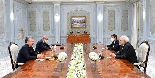 رایزنی ظریف با رئیس جمهور ازبکستان