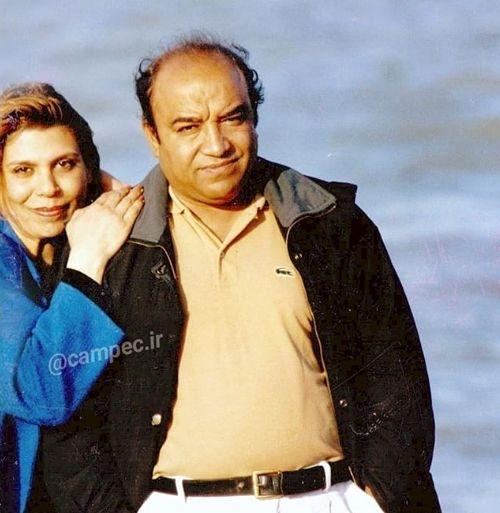 عکس عاشقانه گوهر خیراندیش و همسرش