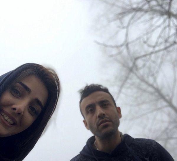 زوج بازیگر مشهور در مه + عکس