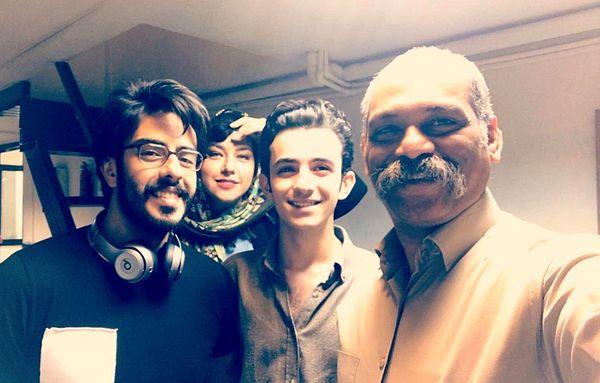 حضور همسر شهاب حسینی در جمع بازیگران+عکس