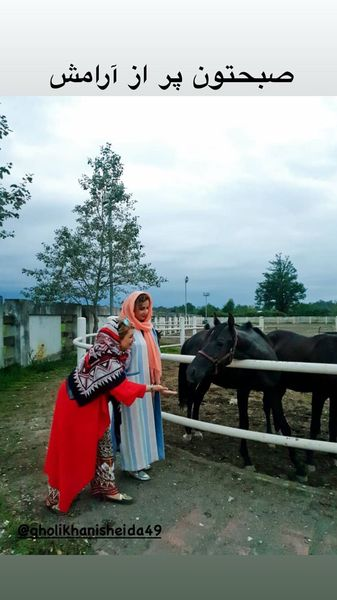 صبح پر آرامش شبنم قلی خانی و خواهرش + عکس