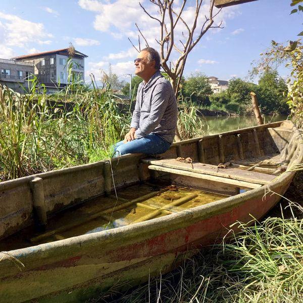 قایق سواری آقای کاراگاه سریال ستایش در شمال
