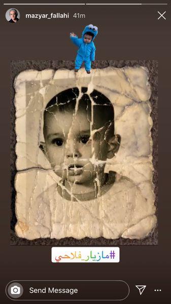 کودکی مازیار فلاحی + عکس