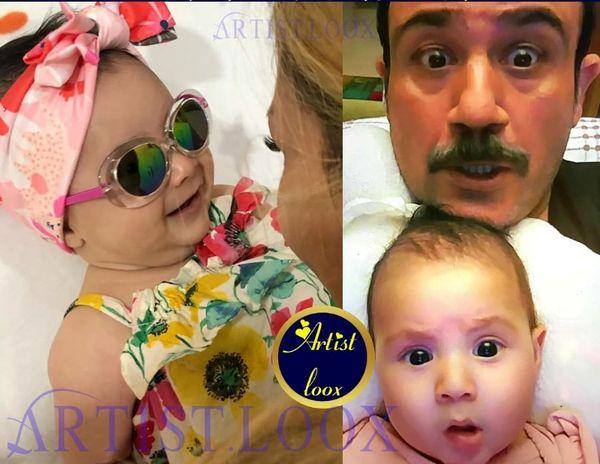 مهران غفوریان و دختر قرتی اش+عکس