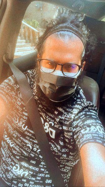 سیاوش خیرابی در ماشینش + عکس