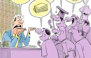 کاریکاتور اینم شیرتوشیر واردات با ارز دولتی!