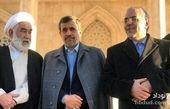 احمدی نژاد با کت زمستانی متفاوت در حرم امام خمینی (ره) + عکس