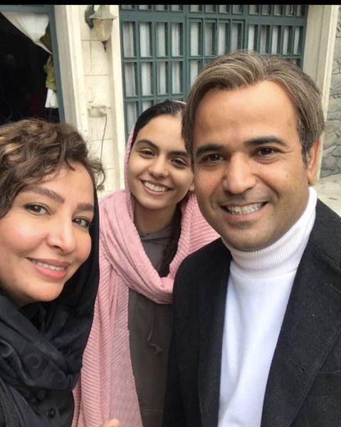 مه لقا باقری و همسر و دختر زخم کاریش + عکس