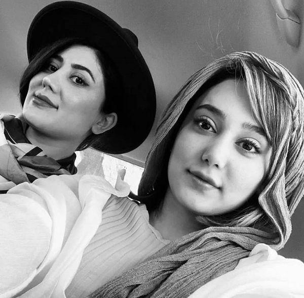عکسی از ساقی حاجی پور و خواهرش