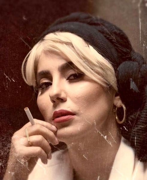 سیگار کشیدن دختر سعید آقاخانی + عکس