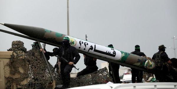 آزمایش یک فروند موشک ساحل به دریا توسط حماس
