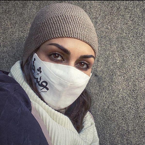 ماسک خاص شیوا ابراهیمی + عکس