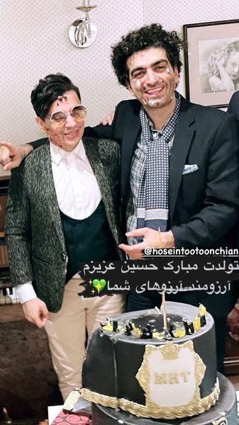 محسن ابراهیم زاده در تولد دوستش + عکس
