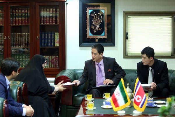 دیدار سفیر کرهشمالی با رئیس سازمان اسناد و کتابخانه ملی ایران
