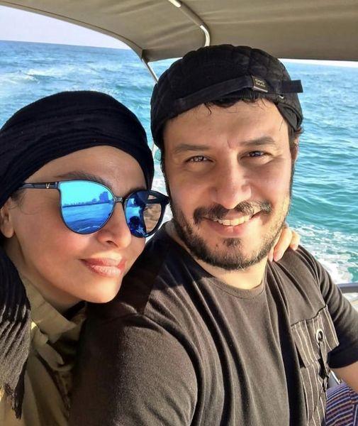 جواد عزتی و همسرش در قایق + عکس