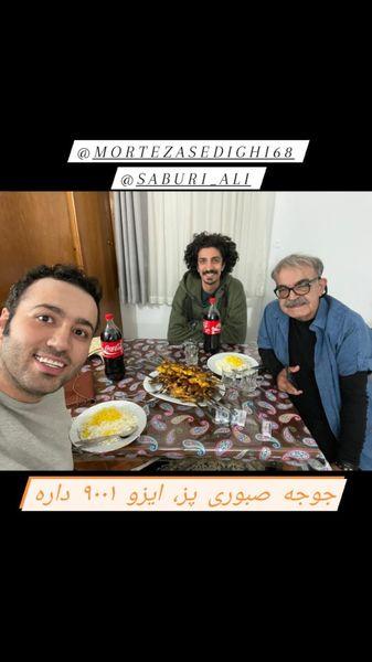 حمید لولایی و بازیگر تازه کار آخر خط + عکس