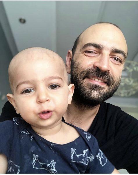 مهران نائل و پسرش + عکس