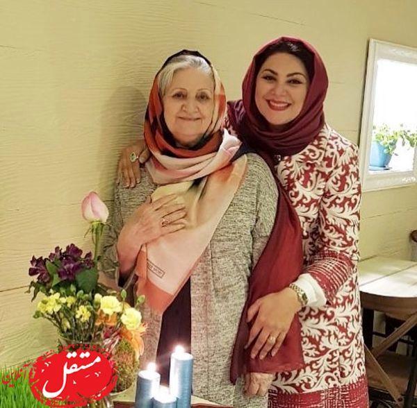 لاله اسکندری در کنار مادر زیبایش+عکس