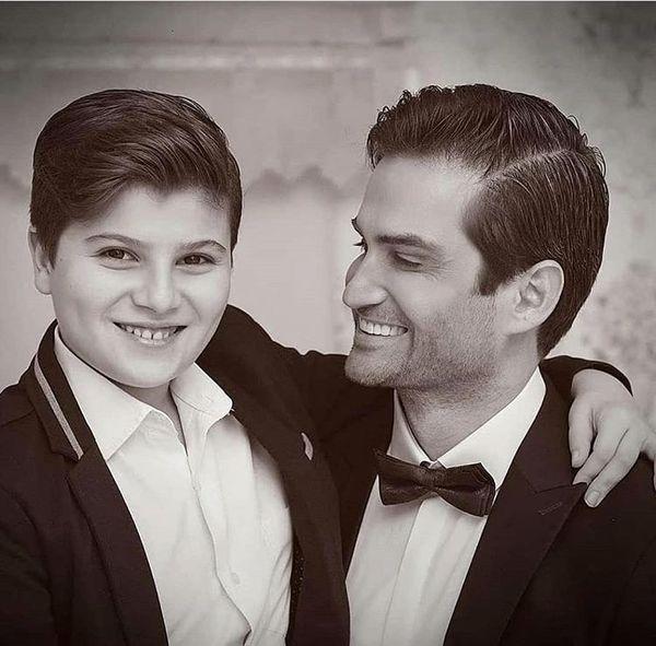پویا امینی و پسرش + عکس