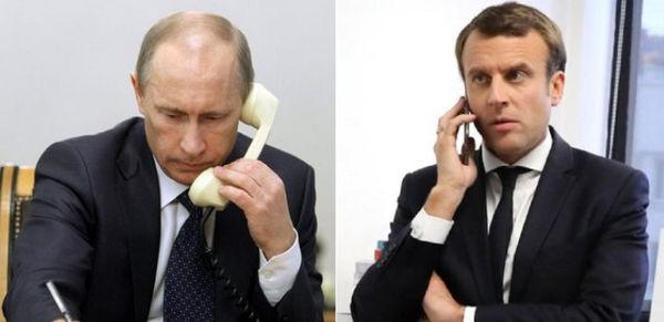 گفتگوی تلفنی رهبران روسیه و فرانسه