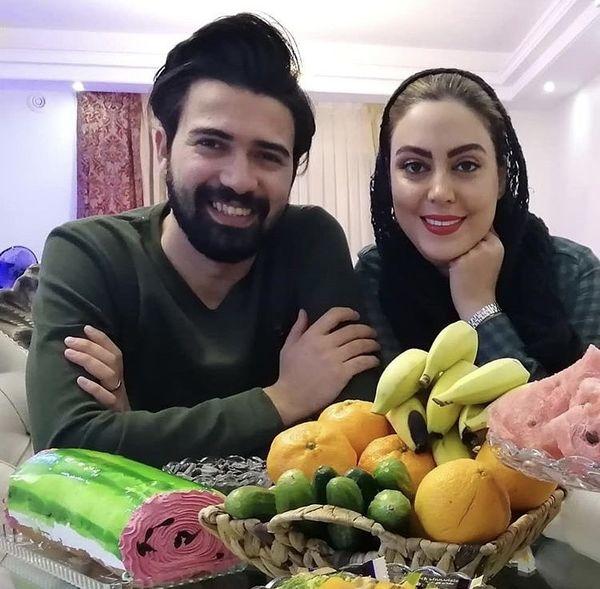 خانم بازیگر جوان و همسرش در خانه شان + عکس