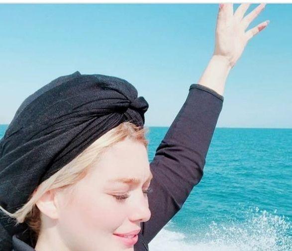 قایق سواری سحر قریشی+عکس