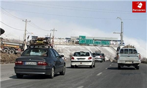 ترافیک محور تهران مازندران سنگین است