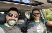 برادرانه های برادران خسروی در ماشین + عکس