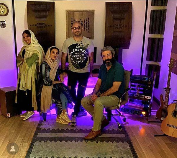 حدیثه تهرانی و همسرش در مهمانی + عکس