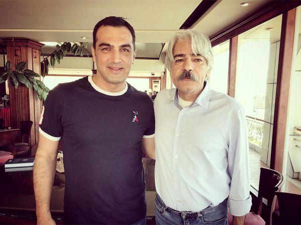 عکس آقای بازیگر با موسیقی دان بین المللی ایرانی