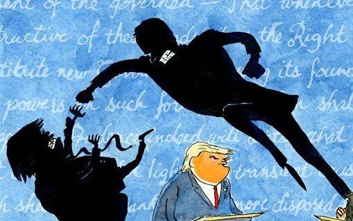 تصویری پنهان از مناظره ترامپ و بایدن!/ کاریکاتور