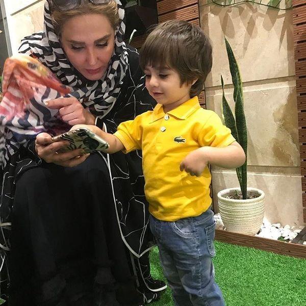 بازیگر روزگار جوانی با مدل کوچولو+عکس