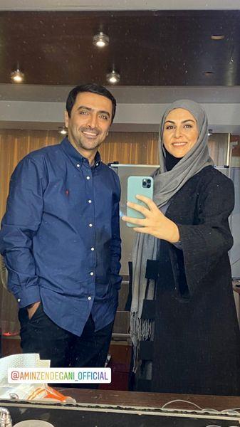 شیوا ابراهیمی در کنار همسر بازیگر مشهور + عکس